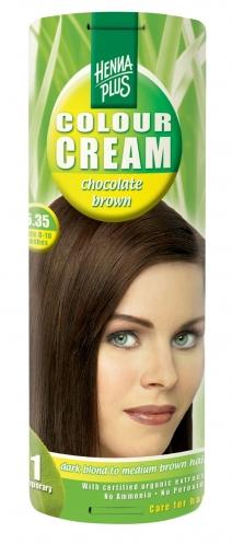 Colour Cream looduslik poolpüsivärv, Šokolaadipruun 5.35
